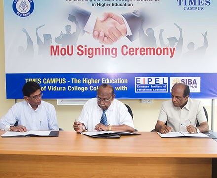 mou signing with siba campus kandy